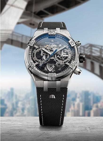The graphic power of the AIKON Chronograph Skeleton