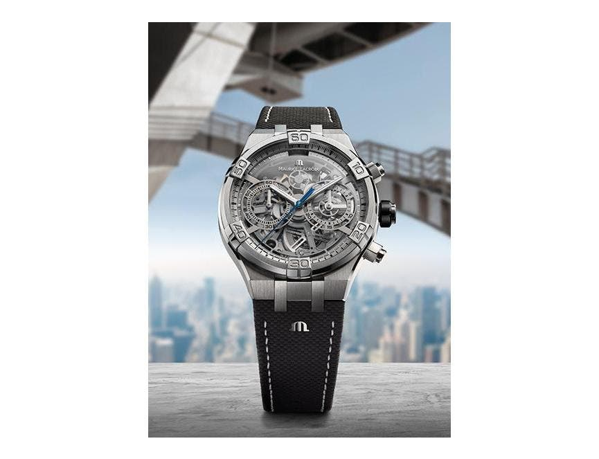 La force graphique de l'AIKON Chronograph Skeleton