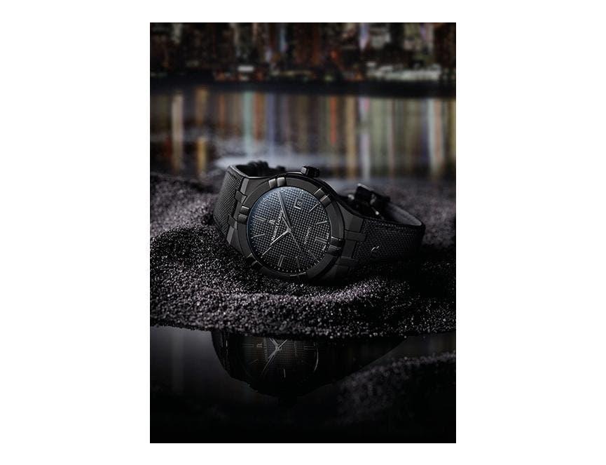 """AIKON系列自动腕表和AIKON系列自动镂空腕表:""""黑色为美"""""""