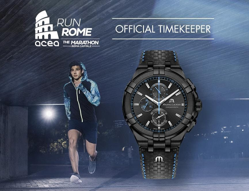 MAURICE LACROIX, THE OFFICIAL TIMEKEEPER FOR ACEA RUN ROME THE MARATHON