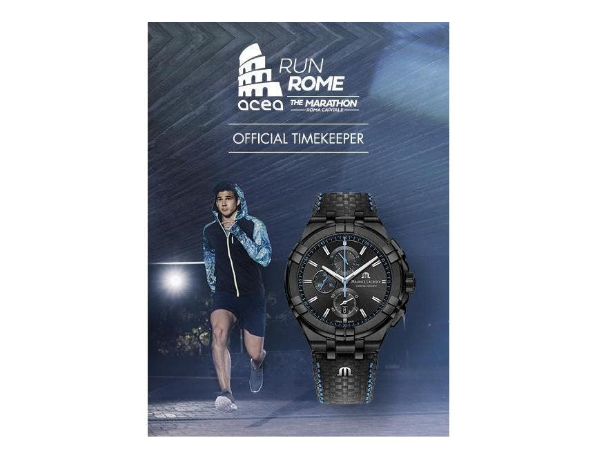 MAURICE LACROIX艾美錶成為ACEA RUN ROME THE MARATHON官方計時