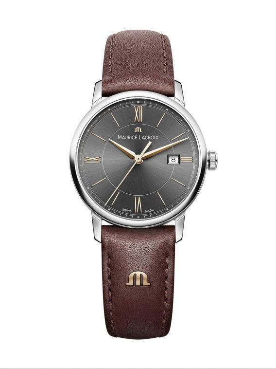 3a5568f04 ELIROS Date 30mm, Women's Watch, Maurice Lacroix Black Dial & Brown ...