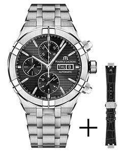 Maurice Lacroix - Strap promotion - AIKON Automatic Chronograph 44 мм AI6038-SS002-330-2