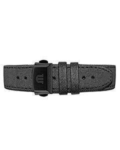 AIKON Black Calf Leather Strap 42mm ML740-005068
