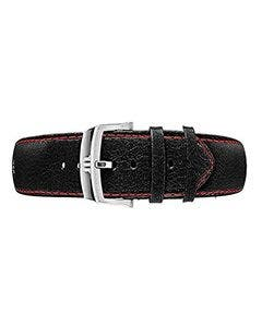 ELIROS Red-Black Calf Leather Strap 40 mm