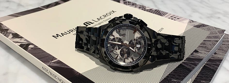 AIKON CHRONOGRAPH CAMOUFLAGE 44MM, Maurice Lacroix, new watch, watches, AI1018-PVB02-336-1